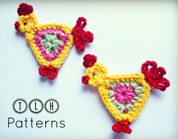 Crochet Applique Pattern Crochet Animal Applique Crochet Etsy