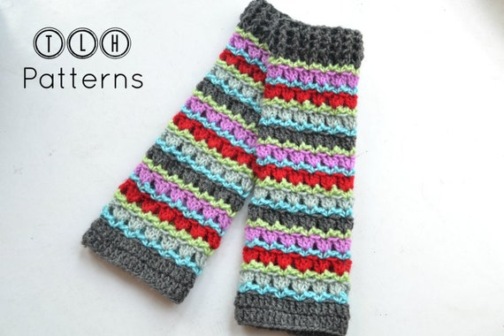 Crochet Legwarmer Pattern Colorful Knee High Leg Warmers Etsy Cool Crochet Leg Warmer Pattern