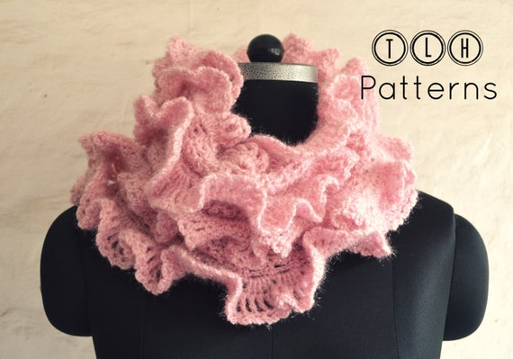 Crochet Pattern Crochet Scarf Pattern Ruffled Scarf Pattern Etsy