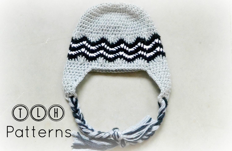 Crochet Hat Pattern Crochet Earflap Hat Chevron Hat Pattern Etsy
