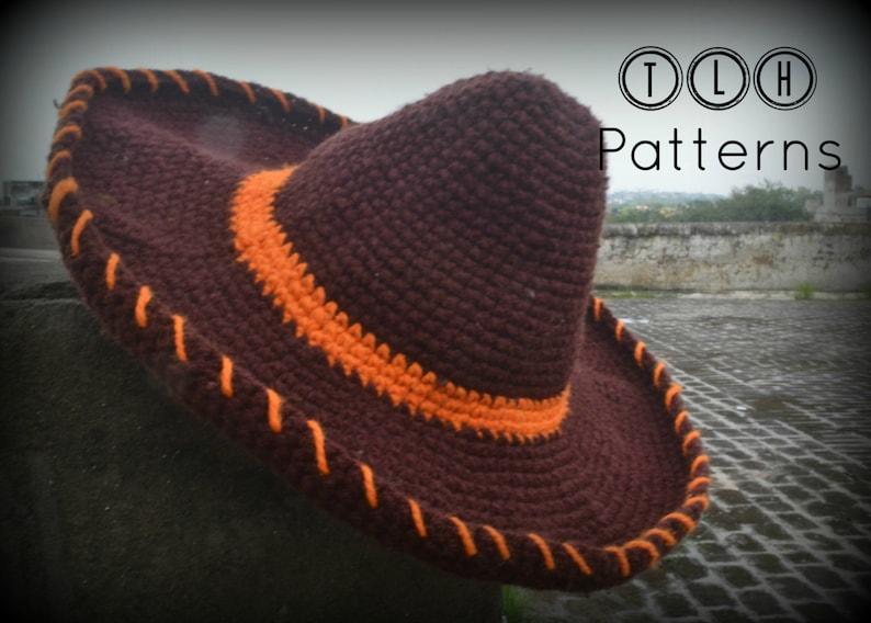 Crochet hat pattern crochet Mexican hat crochet sombrero  6260426b185