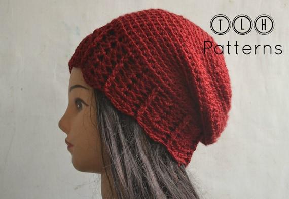 Crochet Slouchy Hat Pattern Slouchy Beanie Pattern Crochet Etsy