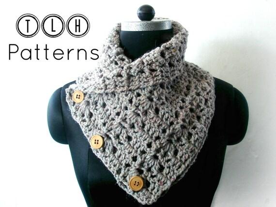 Crochet Cowl Pattern Chunky Neck Warmer Pattern Crochet Cowl Etsy