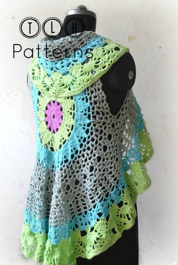 Crochet Vest Pattern Crochet Circular Shrug Crochet Summer Etsy