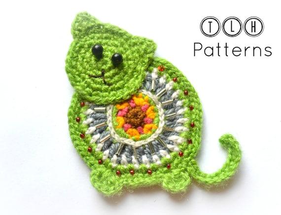 Crochet Applique Pattern Crochet Cat Applique Pattern No 62 Etsy