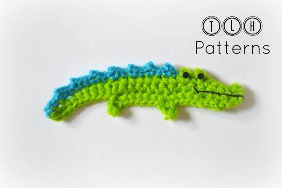 Crochet Pattern Crocodile Applique Pattern Crochet Crocodile Etsy