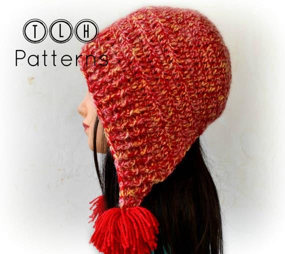 Crochet hat pattern tassel hat crochet bonnet style hat  9b8606f658a