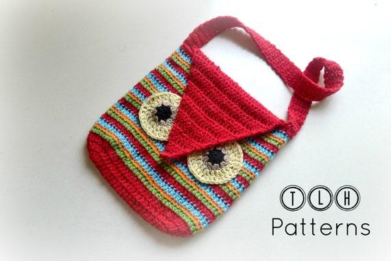 Crochet Bag Pattern Crochet Owl Bag Striped Owl Bag Pattern Etsy