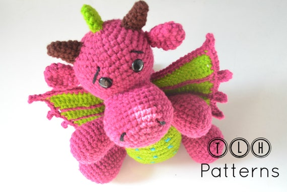 Adult Dragon Crochet Amigurumi Pattern DIGITAL PDF by Crafty ... | 382x570