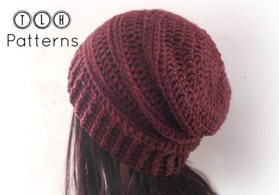 CROCHET PATTERN slouchy hat pattern crochet slouchy beanie  94ddbc55168