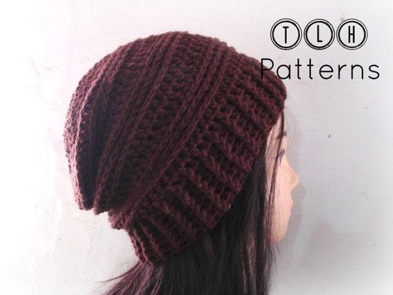 Crochet pattern slochy beanie pattern crochet hat pattern  534f40436053