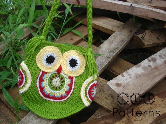 Crochet Bag Pattern Crochet Owl Bag Pattern Crochet Owl Etsy
