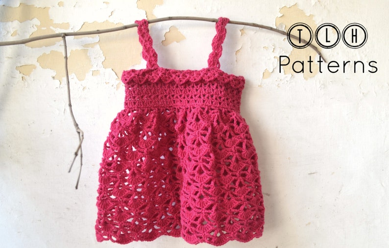 0cbf78919 Crochet baby dress pattern 3-6 months 6-12 months and 1-2
