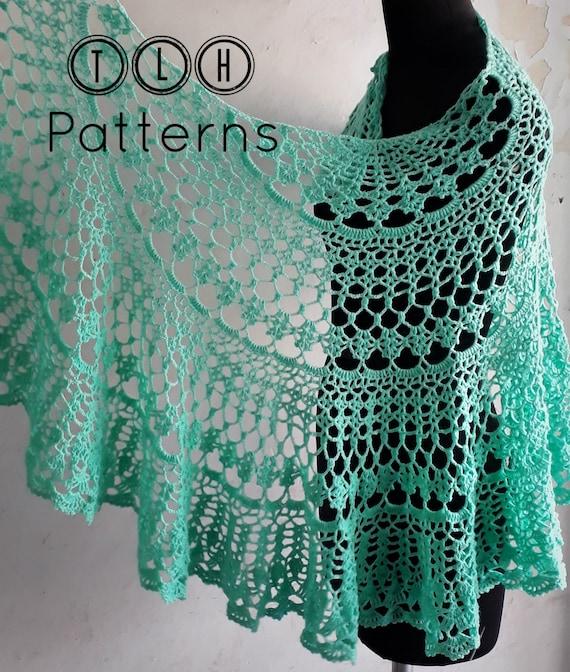Crochet Shawl Pattern Lace Shawl Crochet Pattern Crochet Etsy