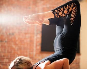 Yoga leggings Braided Leggings Gift for her Pixie Leggings Tribal Leggings