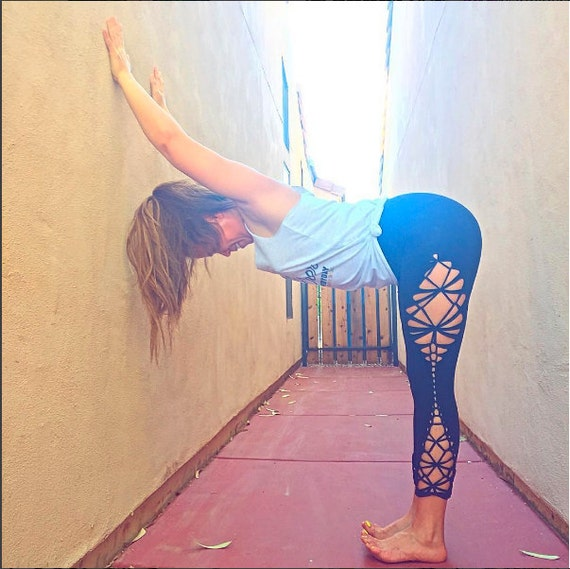 "Braided Leggings//Yoga//Festival//dance ""hourglass"""