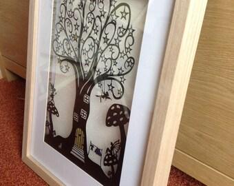 Fairy tree personal use papercut template