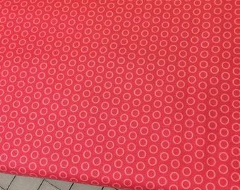 HALF YARD cut of Riley Blake - Circle Dot in Hot Pink - C445  100% cotton