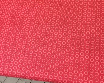 HALF YARD cut of Riley Blake - Circle Dot in Hot Pink - C445  100% cotton