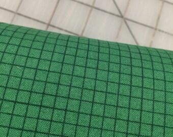 Windham Fabrics - FAT QUARTER cut - Coast To Coast - Grid in Green by Whistler Studios