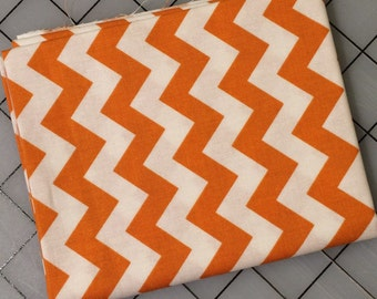 Riley Blake - FAT QUARTER cut of Small Chevron in Burnt Orange  -  100% cotton C340-65