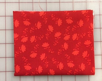 Riley Blake - FAT QUARTER cut of Lucy's Garden - Tonal in Red - Patty Young C8644