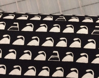 FAT QUARTER cut of Irons - Dirty Laundry in Black by Chris Pashcke for Whistler Studios