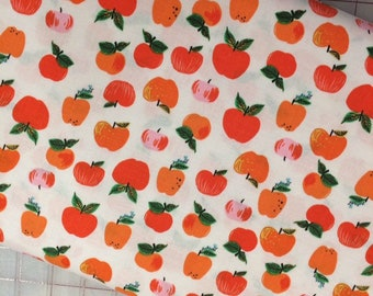 HALF YARD cut of Heather Ross 20th Anniversary - Red/Orange Apples