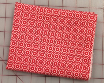FAT QUARTER cut of Riley Blake - Sugarhouse Park - Sugarhouse Medallion in Red