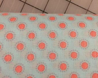 """HALF YARD cut of Penny Rose - 54"""" Linen & Lawn - Circle in Blue - Cotton Lawn Fabric by Sue Daley Designs"""