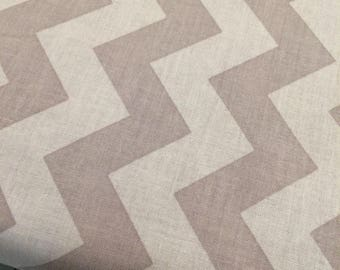 HALF YARD cut of Riley Blake Designs - Medium Chevron- Gray - Tone on Tone