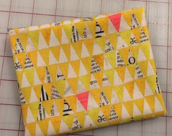 Wonder by Carrie Bloomston  - FAT QUARTER cut of Stacked Triangles in Mustard for Windham Fabrics
