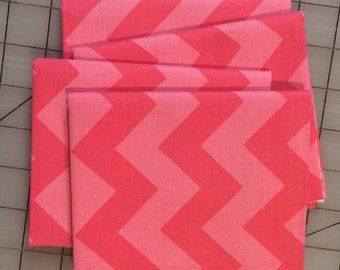 Riley Blake Designs - FAT QUARTER cut of Medium Chevron- Tone on Tone in Hot Pink