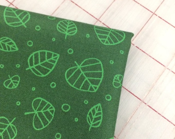 Forest Spirit - FAT QUARTER cut of Scattered Leaves in Pine by Felice Regina for Windham Fabrics