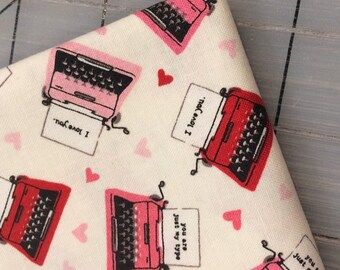 FAT QUARTER cut of Sweetheart Typewriter by Echo Park Paper Co. for Riley Blake Designs