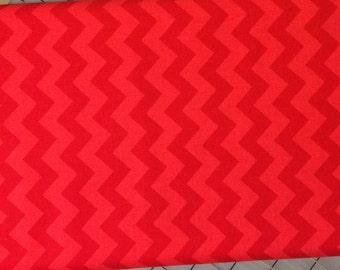 HALF YARD cut of Riley Blake - Small Chevron - Tone on Tone in Red  -  100% cotton C400-81