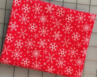 "Riley Blake - FLANNEL - FAT QUARTER cut of Riley Blake Designs ""Santa Express"" by Doodlebug Designs - F4725 Red"