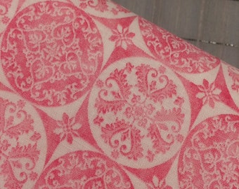 HALF YARD cut of Riley Blake - Sweet Melody- Medallion in Pink by Lila Tueller