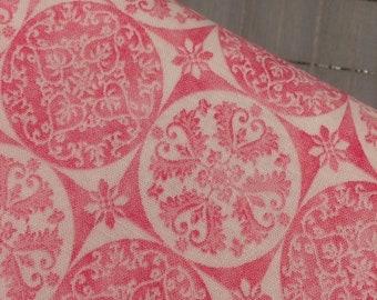 HALF YARD cut of Riley Blake - Sweet Melody- Medallion in Pink by Lila Tueller
