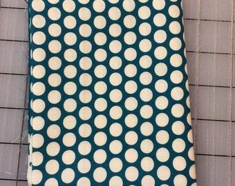 Half Yard cut of Birch Fabrics - Organic Cotton - Mod Basics - Dottie Cream - MB-01-Teal