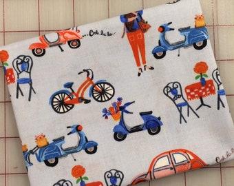 Ooh La La - FAT QUARTER cut of Organic Cotton - Street Life in Blue by Carolyn Gavin for Windham Fabrics