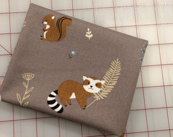 Critter Tails - FAT QUARTER cut in Truffle by Michael Miller