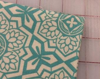 Joel Dewberry - FAT QUARTER cut of Botanique - Mosaic Bloom in Teal - PWJD087