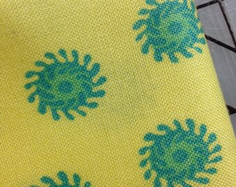 FAT QUARTER cut of Jennifer Paganelli -  Poodle - Lisa  in Yellow **FQ cuts only**