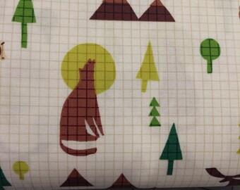 Windham Fabrics - FAT QUARTER cut - Coast To Coast - Wildlife in Cream by Whistler Studios