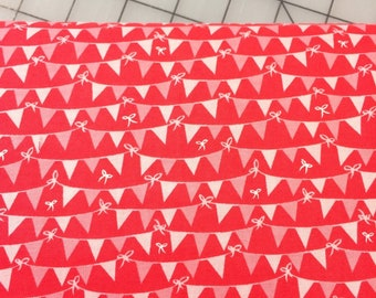 Half Yard cut of Tree Party - Banner in Red - Riley Blake Designs by Kelly Panacci - C5095-RED