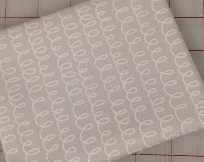 FAT QUARTER cut of Bounce - Squiggle in Gray by Allison Harris for Windham Fabrics