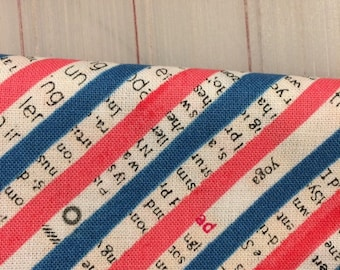 Wonder by Carrie Bloomston  - FAT QUARTER cut of Bias Stripe in Navy for Windham Fabrics