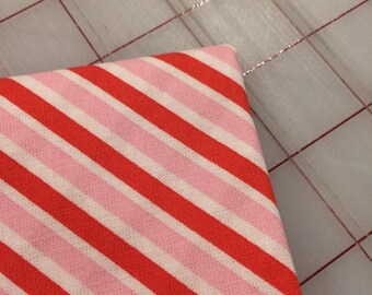 Love Letters - FAT QUARTER cut of Stripe in Pink by Lindsay Wilkes of Cottage Mama for Riley Blake