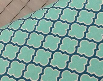 HALF YARD cut of Joel Dewberry - True Colors - Lodge Lattice - PWTC006 in Aqua